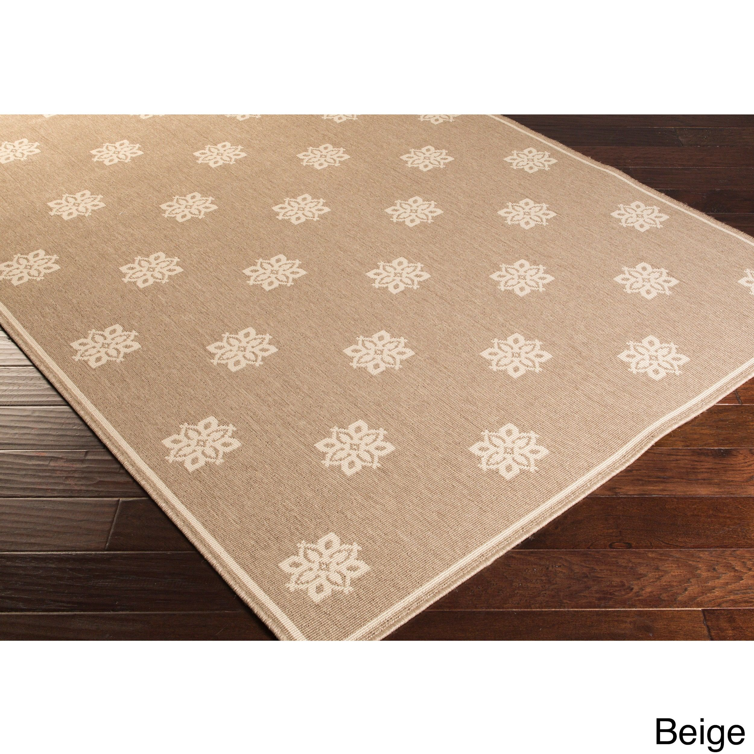 Meticulously Woven Jenna Contemporary Floral Indoor Outdoor Area Rug