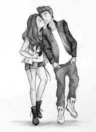 Resultado De Imagen Para Dibujos A Lapiz Faciles Tumblr Desenhos De Namorados Juntos Namorados Desenho Desenhos De Amor Tumblr