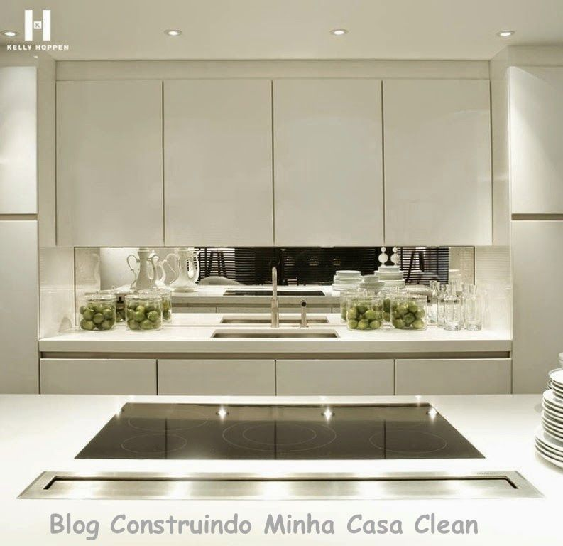 25 cozinhas decoradas com espelhos saiba como us los kitchens kitchen modern and house - Glass splashbacks usa ...