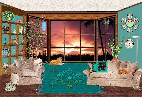 Living Room Cartoon   Stage Set Part 49