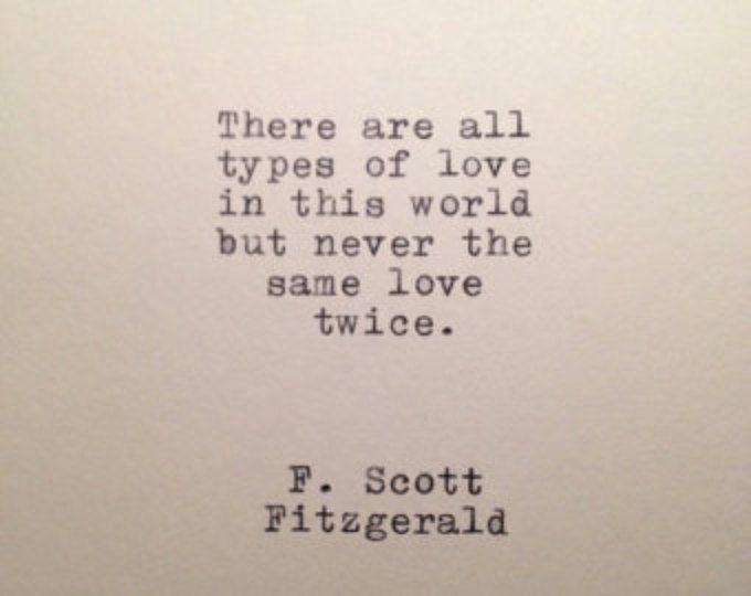 F. Scott Fitzgerald Quote Typed on Typewriter | Etsy