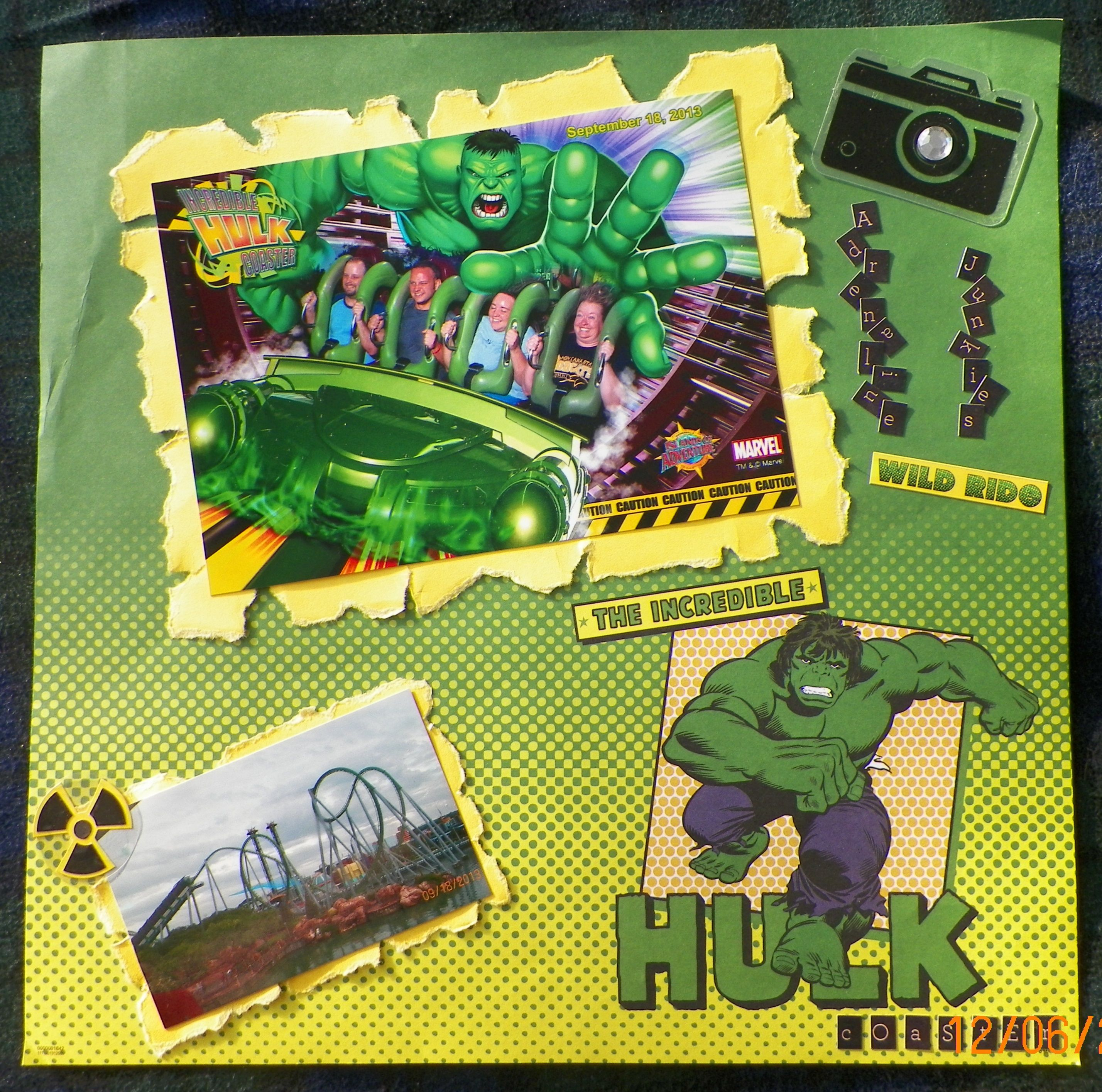 Universal studios scrapbook ideas