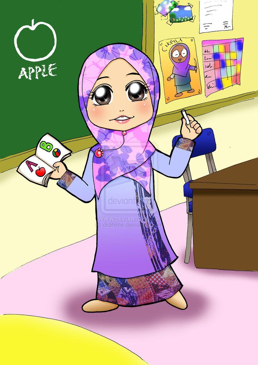 Gambar Guru Mengajar Di Kelas Kartun