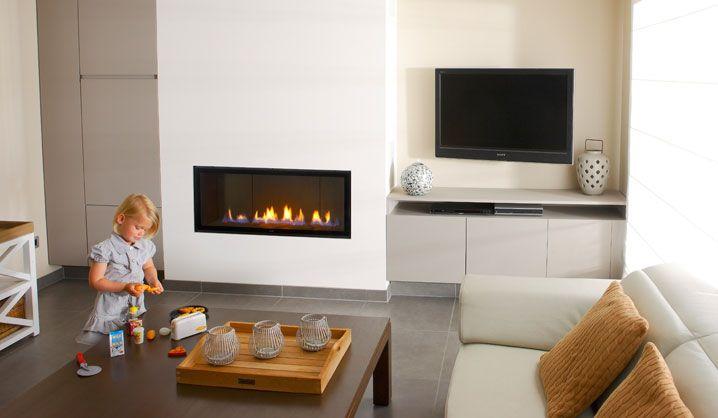 haard tv home fireplace shelving pinterest chemin e chemin es et po le. Black Bedroom Furniture Sets. Home Design Ideas