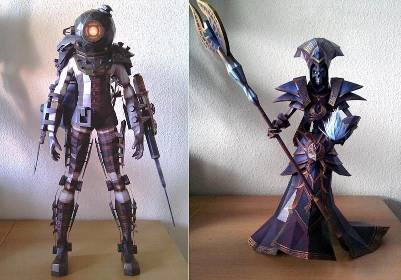 Awesome Paper Crafts Based On Game Characters Game Character