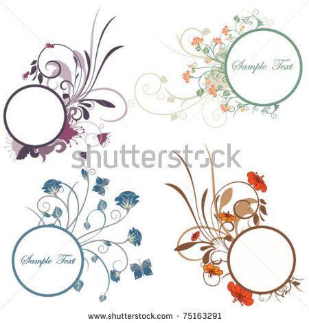 stock vector : Floral frames set