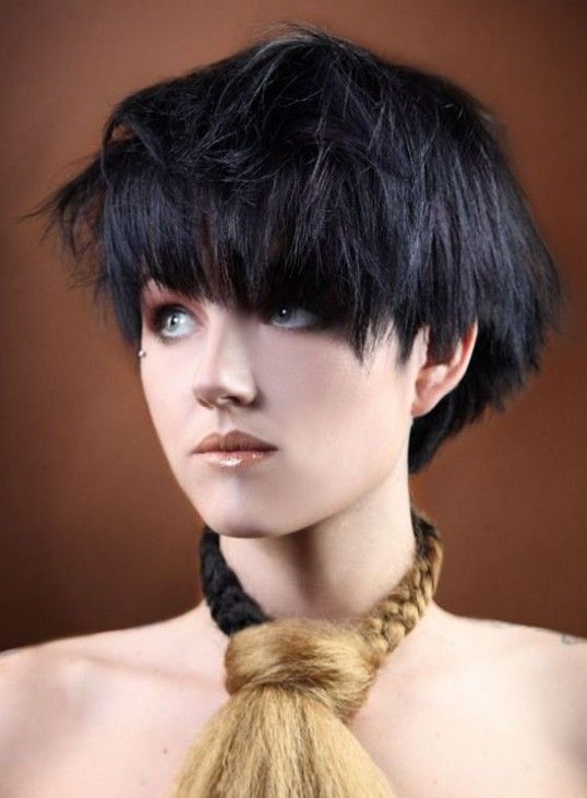 Black Hairstyles 2014 sharetweetpin 2014 Hairstyles Short Black Bob Hairstyle With Bangs For Thick Hair