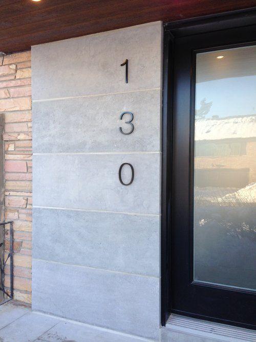 entreprise qui fait des numéros de portes sur mesure Hall d\u0027entrée - pose d une porte d entree