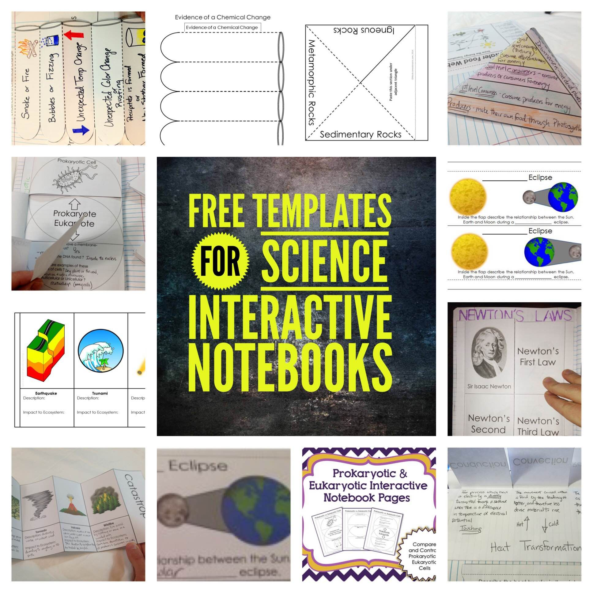 Science Interactive Notebook Templates - Sampler ...