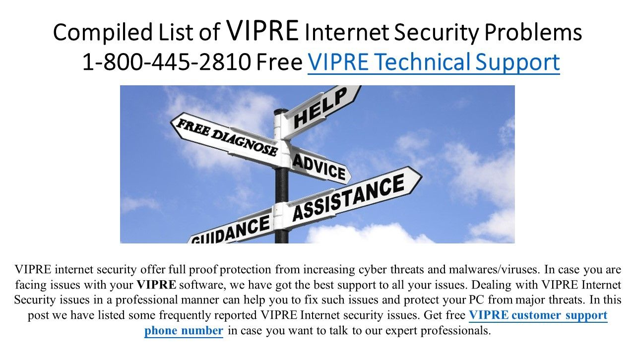 Vipre helpline Phone number security, Cyber