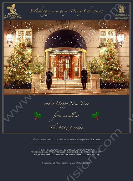 Merry Christmas From The Ritz Hotel The Ritz Pinterest Email