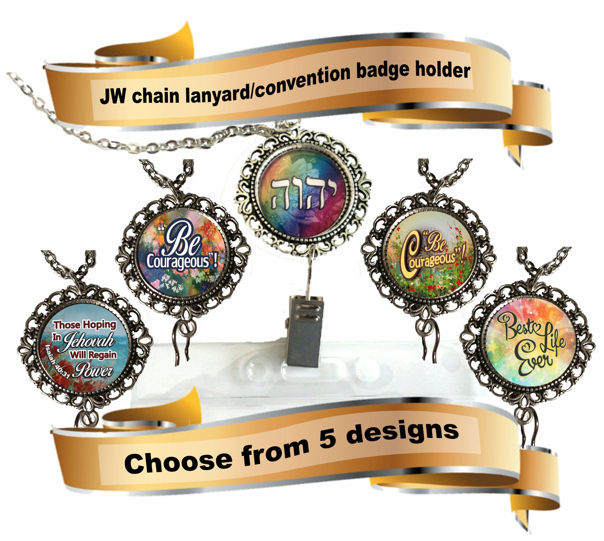 JW gifts/JW convention lanyard badge holder/chain lanyard/necklace