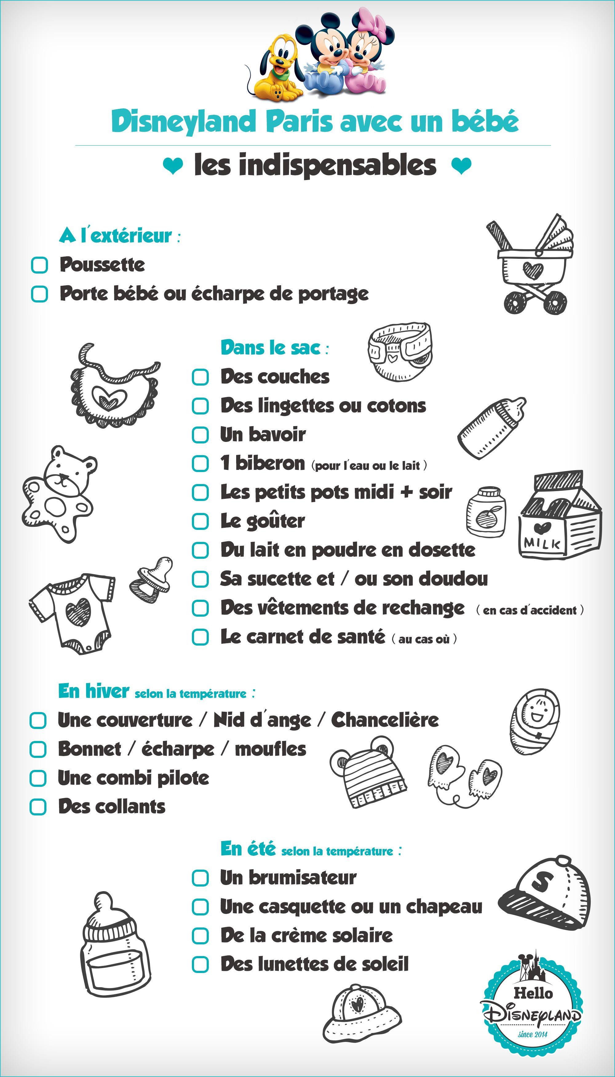 liste de voyage avec bébé