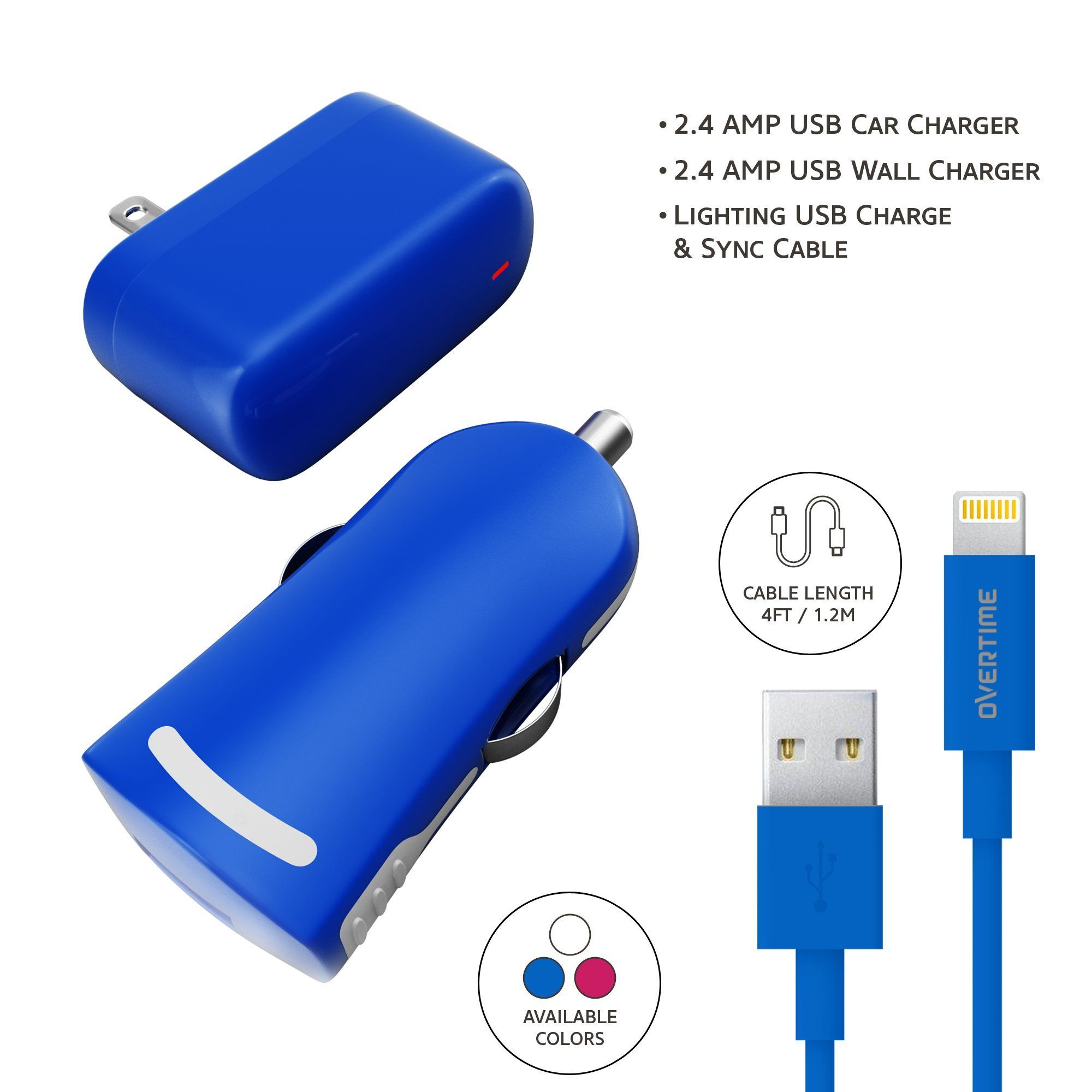Apple Certified Home Charger Adapter And Lightning Cable With Car