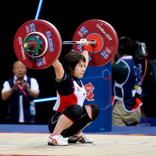 48 Women, Olympic Weightlifting, London2012      三宅宏実選手  スナッチ87kg 日本新記録の写真