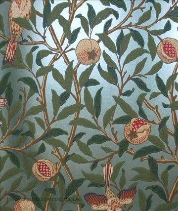 William Morris Bird & Pomegranate (Engelska Tapetmagasinet ...