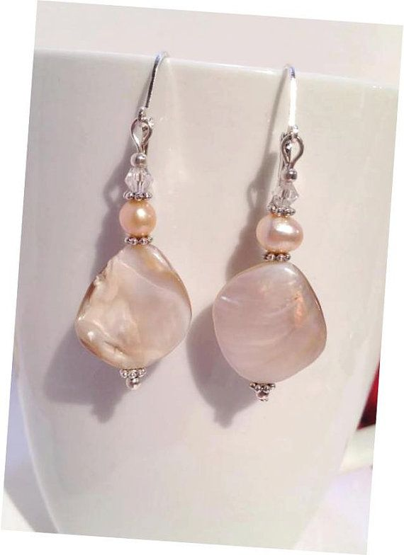 Natural Shell Earrings Shell Dangle earrings by JewelzonJewelz