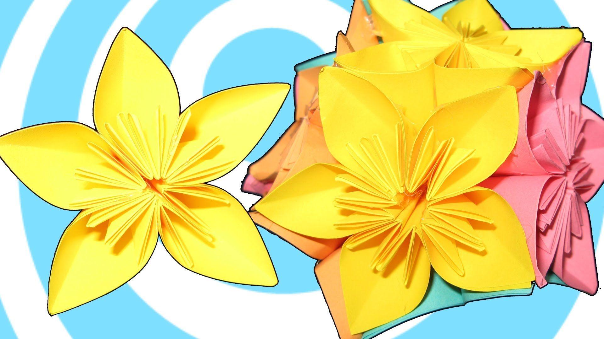 How To Make Origami Kusudama Flower Ball Video Tutorial Origami
