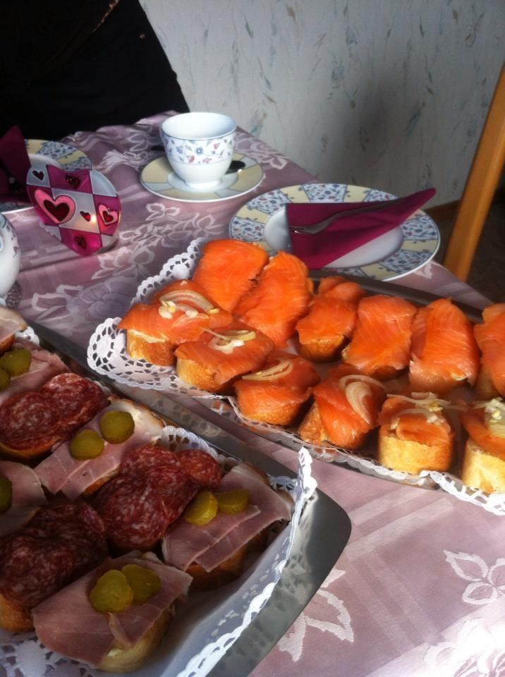 Salmon schnittchen