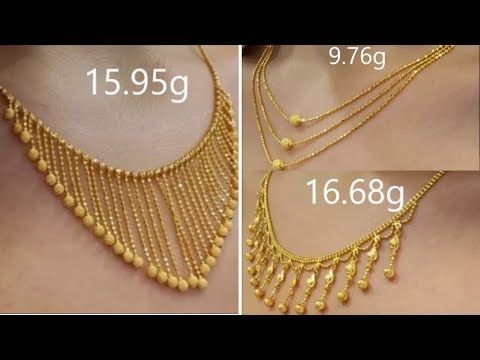 dfc95aad36 Latest Light Weight Gold Necklace Designs | Gold Necklace For Women Under  10 Grams - YouTube