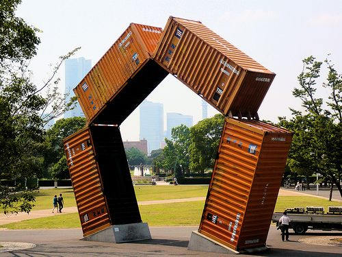 Upcycled Container Sculpture Recyclart Container Architecture Architecture Architecture Sketchbook