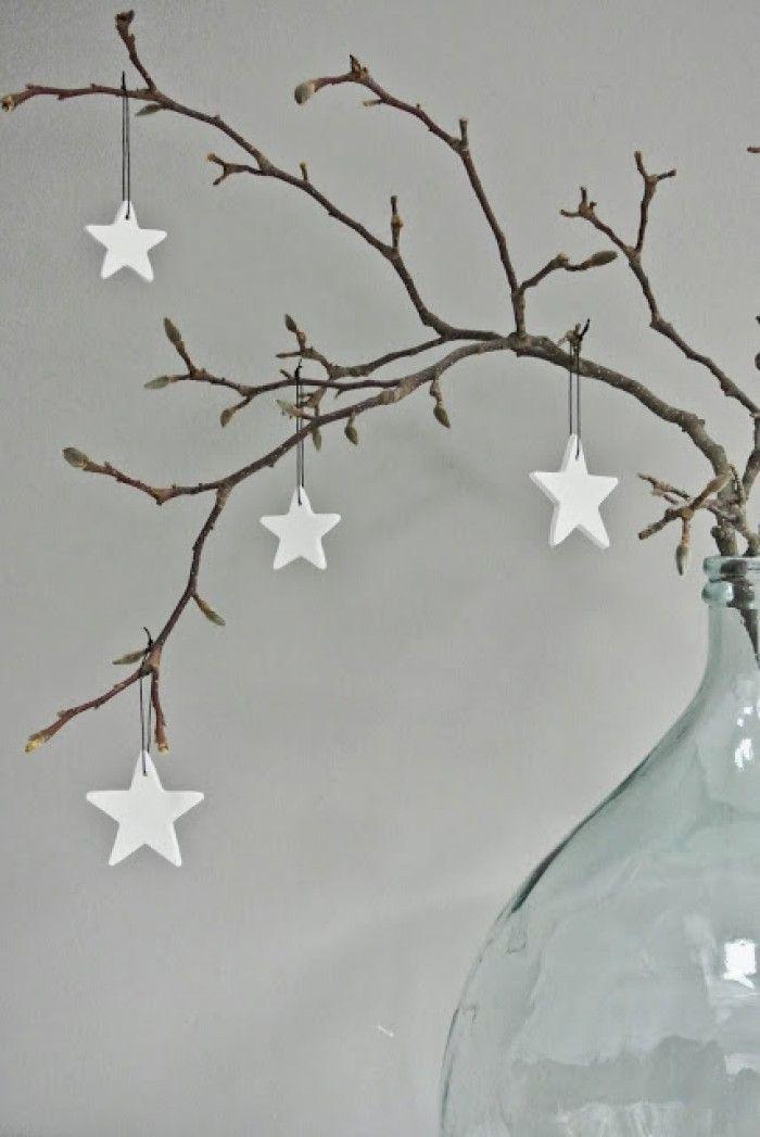 Decoratie Hangers Van Jotte Witte Sterren In 2 Formaten Kerst Kerstmis Diy Decoratie