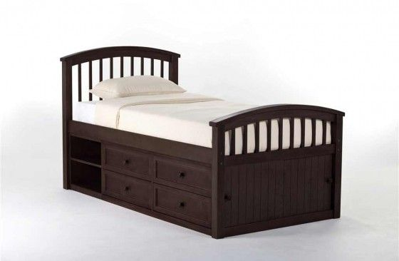 Talsma Chocolate Children Captain Bed With Storage Captains Bed