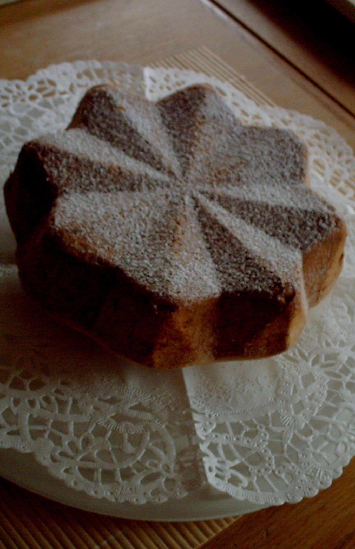 Sternentorte - Rührteig mit Nüssen und kleinen Schokostückchen