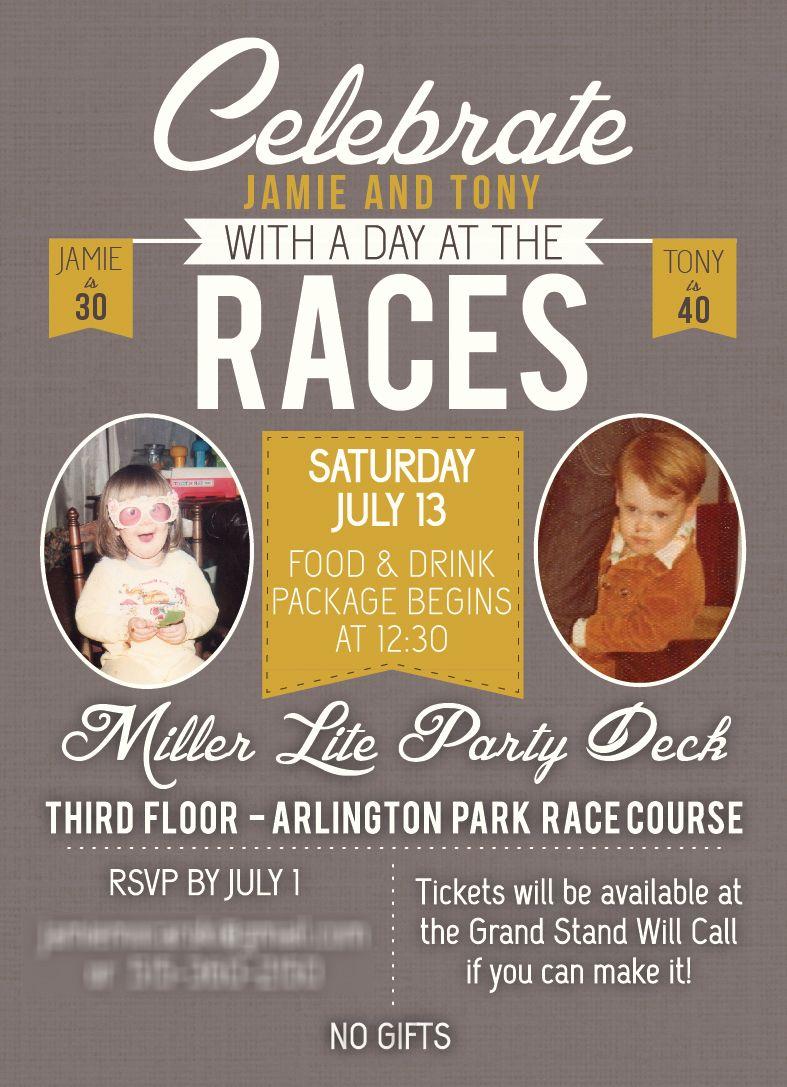 Horse Race Birthday Invitation | Day at the Races Birthday Invitation |  mintpacific.com