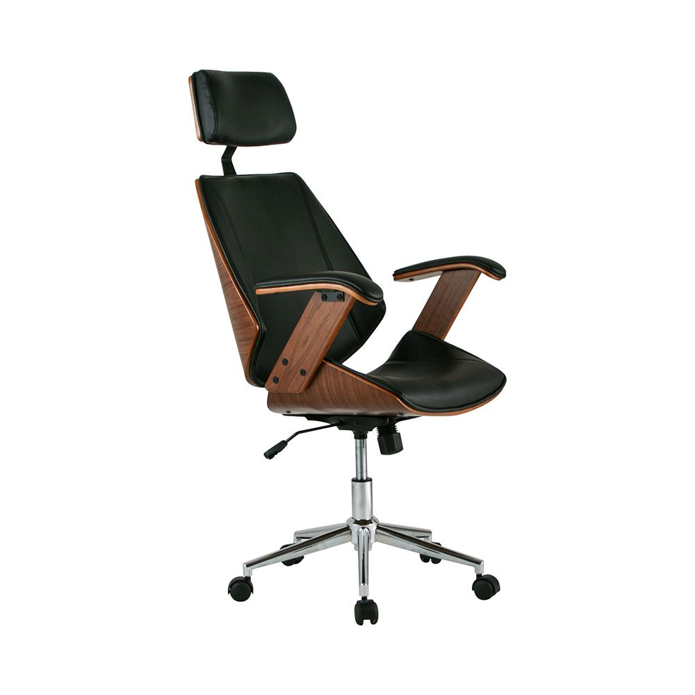 First Mate fice Chair in Black Dot & Bo