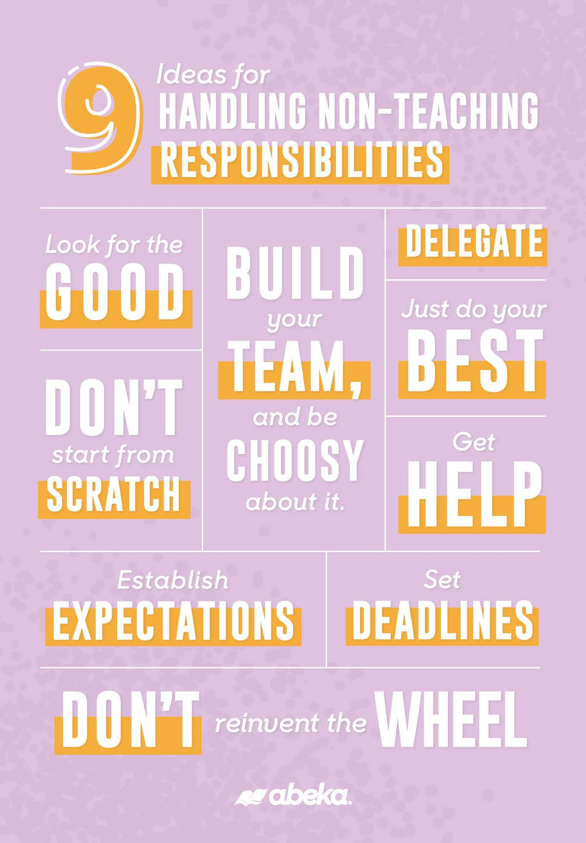 9 Ideas For Handling New Non Teaching Responsibilities