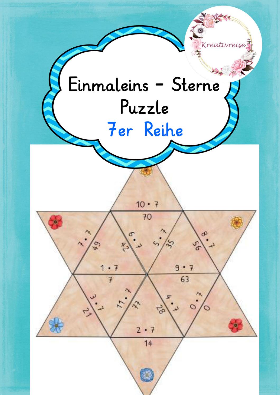 Einmaleins Stern Puzzle 20er Reihe – Unterrichtsmaterial im Fach ...