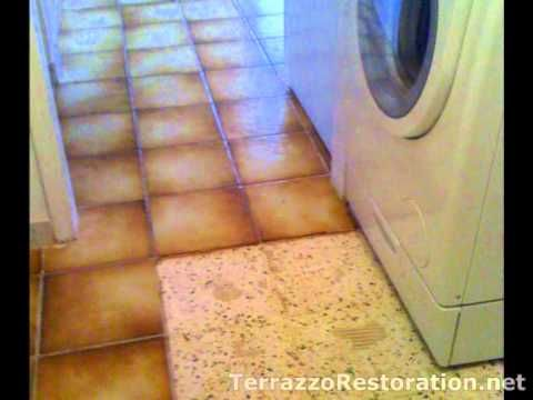 How To Remove Old Tile Flooring Terrazzo Repair