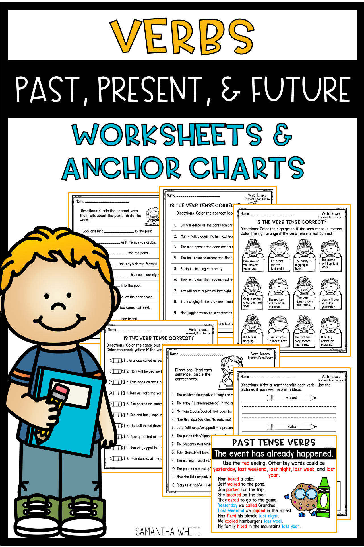 Verbs Past Present And Future Worksheets Amp Anchor Charts
