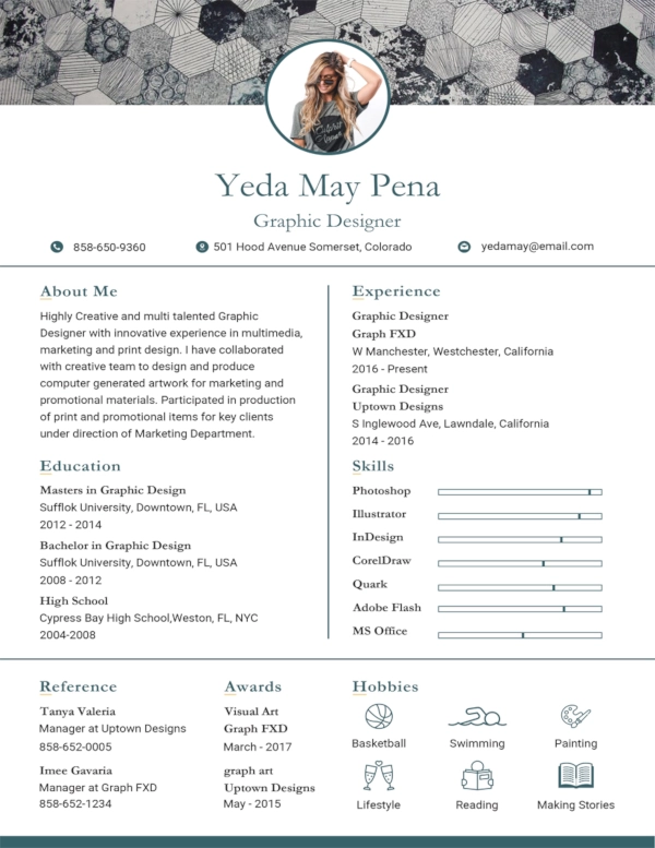 Free Simple Modern Resume Graphic design resume, Graphic