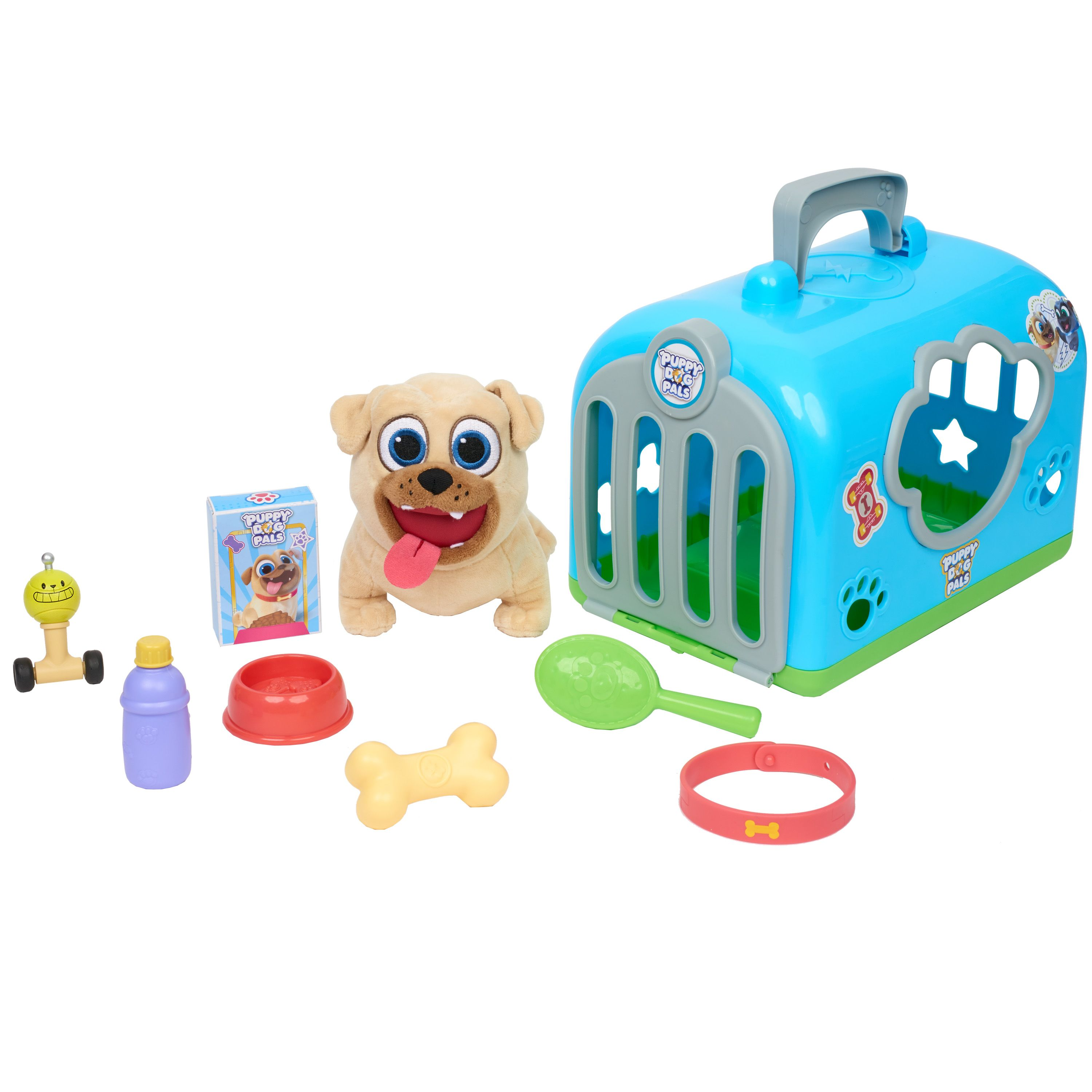 Disney Puppy Dog Pals Groom And Go Pet Carrier Rolly Groom Dogs