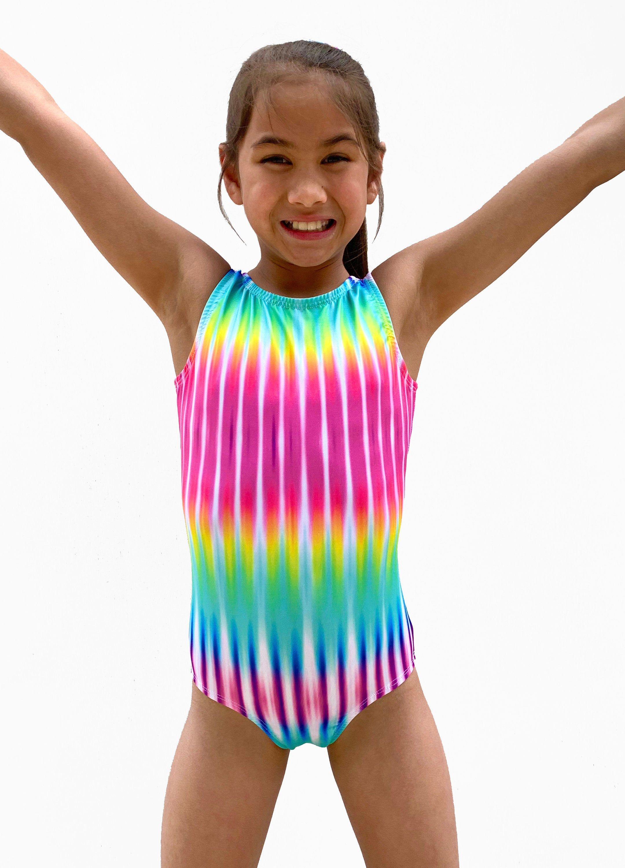 gymnastics leotard dance leotard Tie dye leotard baby girl leotard toddler leotard girls bodysuit baby tie dye leotard
