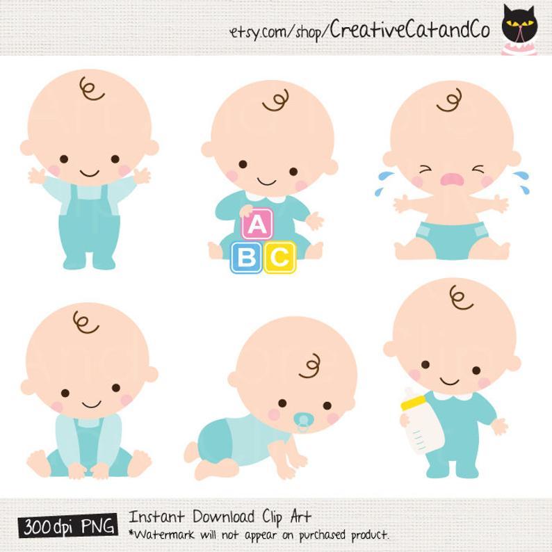 Baby Boy Clipart Baby Boy Clip Art Baby Boy Shower Clipart Cute