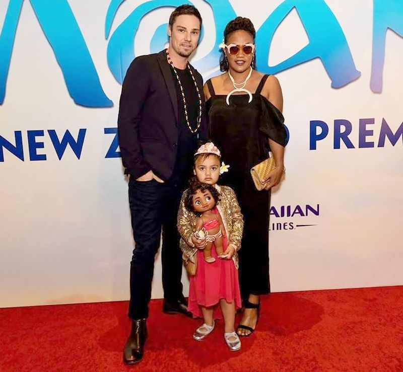 Jay Ryan and Family at Moana Premiere NZ - 12/13/16 ...