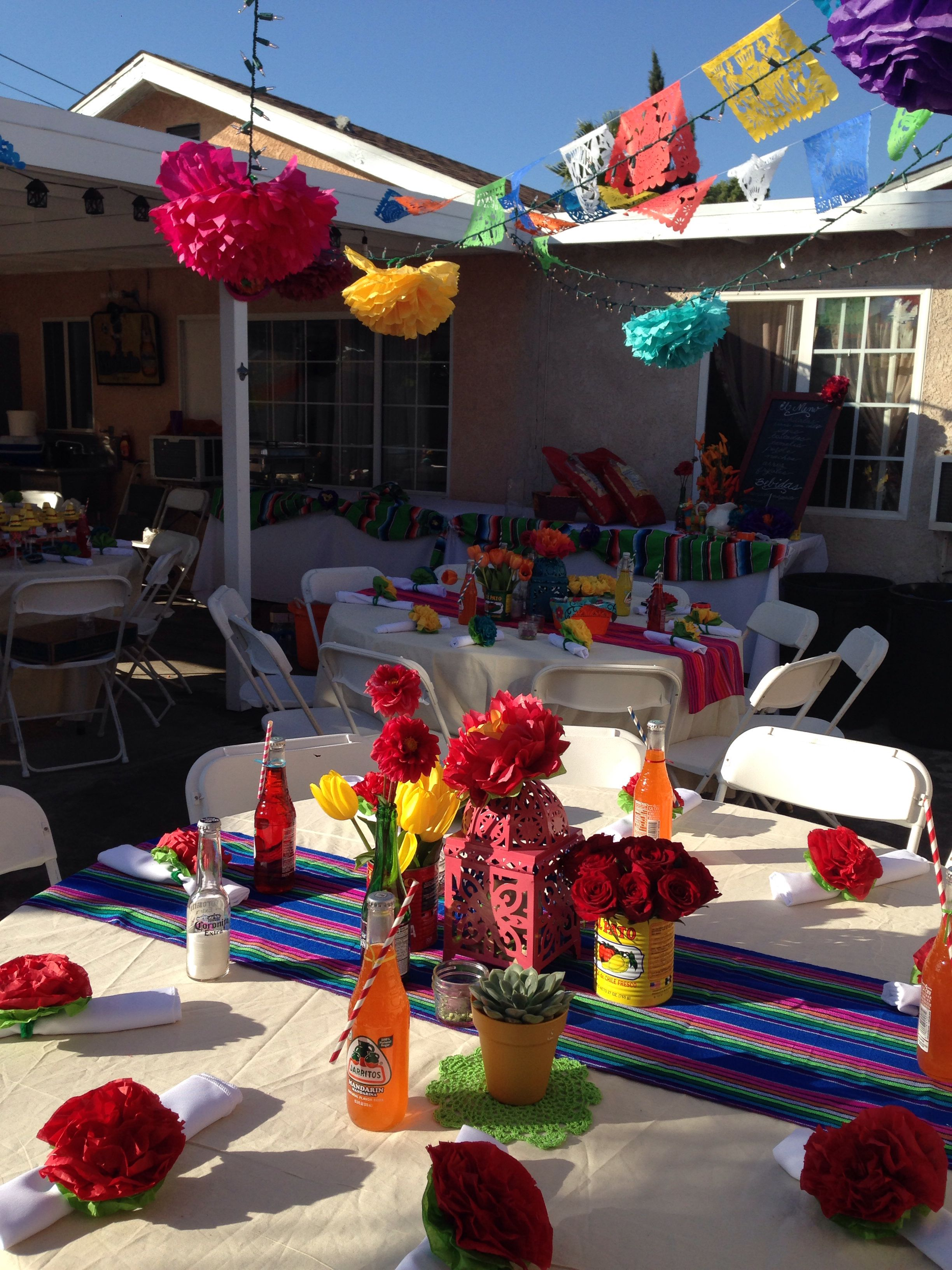 mexican party decor : decorating ideas for mexican themed party - www.pureclipart.com