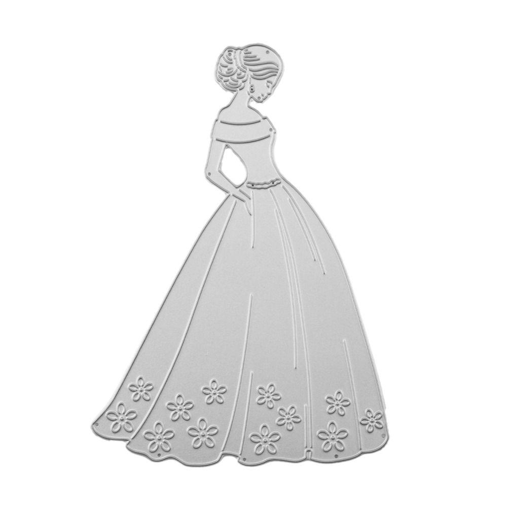 Beautiful wedding Lady Woman Pattern Template DIY Metal Cutting ...