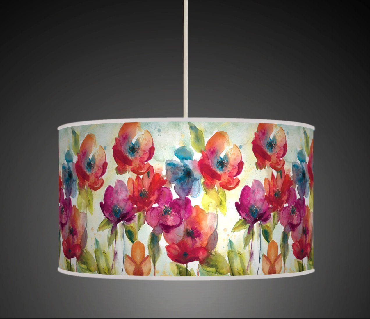 30cm Multi Colour Watercolour Flowers Floral Handmade