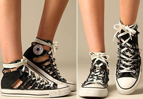 This gives a cool new way of wearing converse in summer without your feet getting too hot