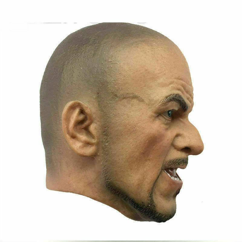 """1//6 Charlie Hunnam Head Sculpt Carving Model PVC Male Figure for 12/"""" Action Doll"""