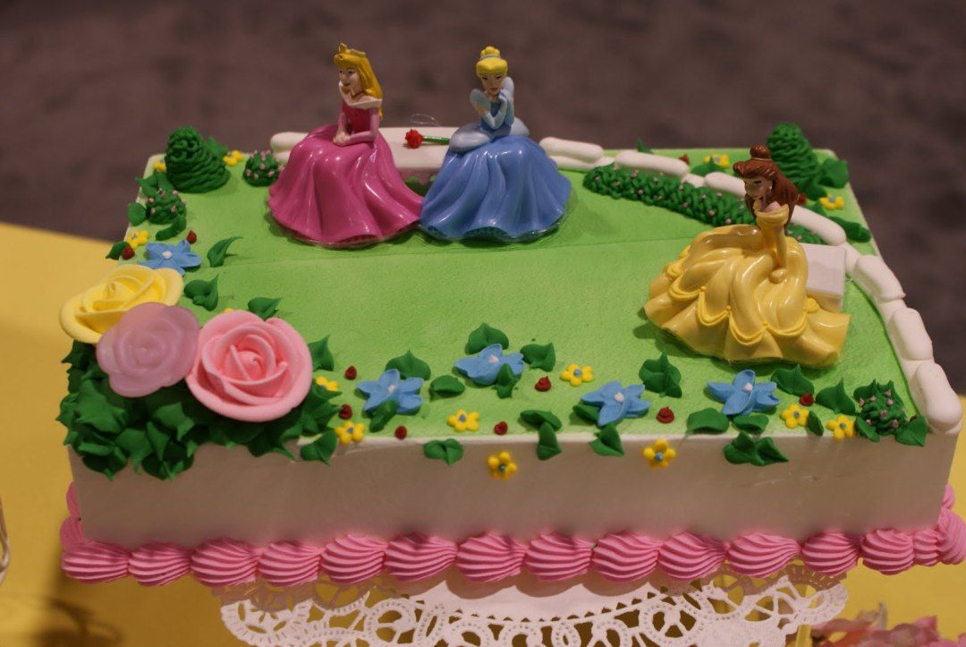 Image of Princess Birthday Cake Sheet Ideas Design Girls birthday