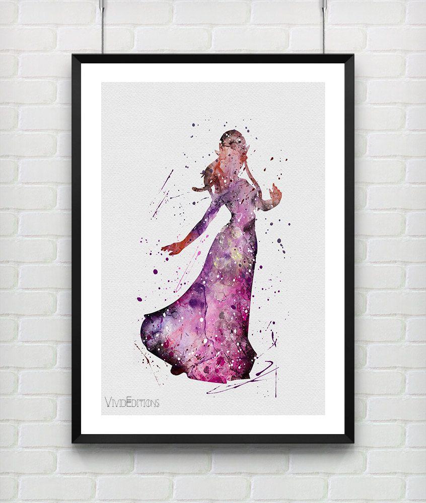 Princess Zelda, The Legend Of Zelda Watercolor Art Print