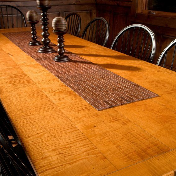 10 Tiger Maple Dining Table Harvest Dining Room Harvest Table Dining Room Harvest Dining Table