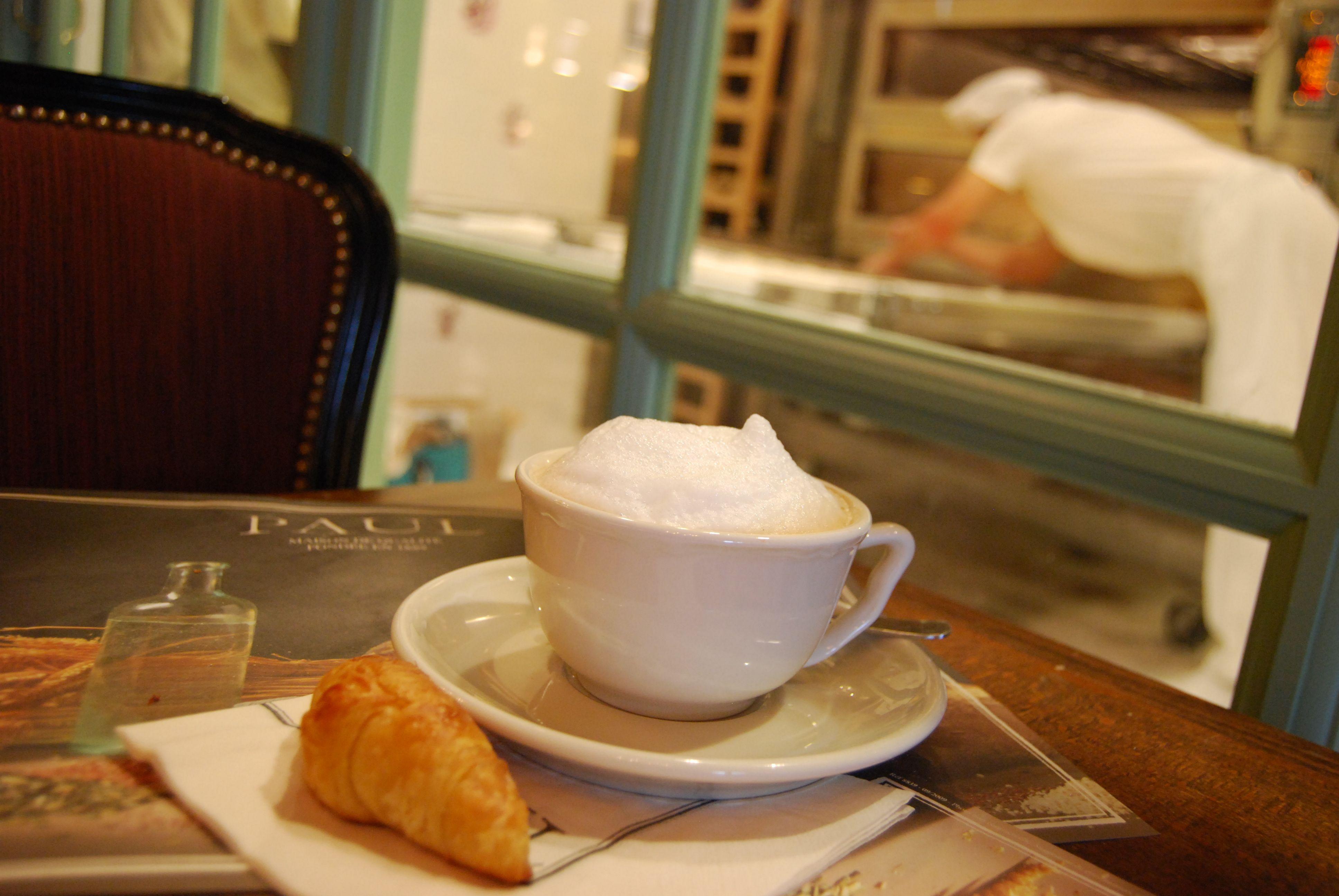 #coffee + #croissant.  Washington
