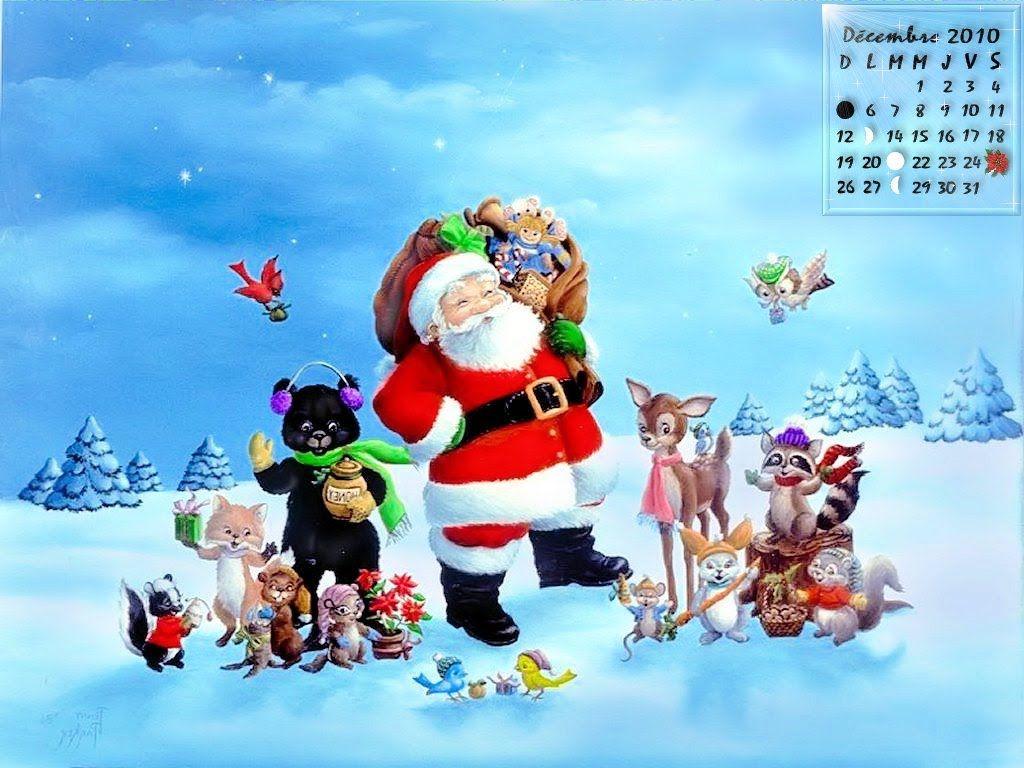 Conte De Noel Papa Noel Et Le Petit Tom Merry Christmas Images Merry Christmas Wallpaper Animated Christmas