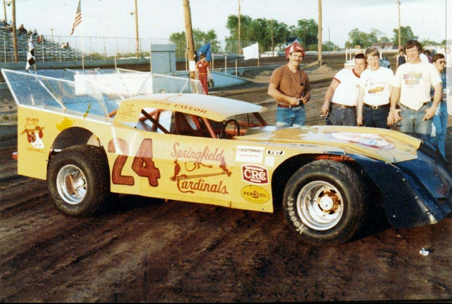 Dick Taylor of Springfield, Illinois Springfield Illinois, Dirt Track Racing,  Vintage Race Car